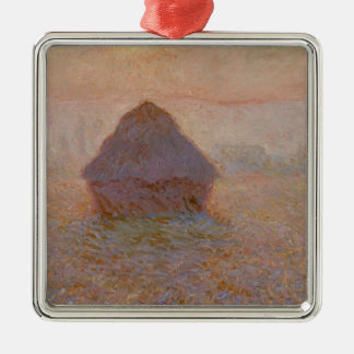 Claude Monet | Grainstack, Sun im Nebel Silbernes Ornament
