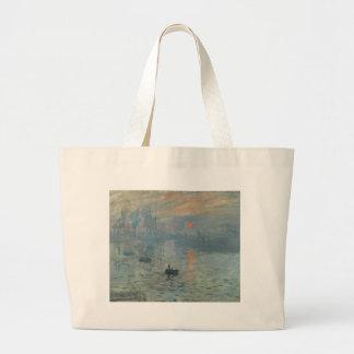 Claude Monet, impression, soleil levant Sac En Toile Jumbo