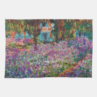 Claude Monet - Iris Monets in der Garten-schönen Handtuch