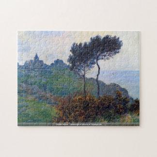 Claude Monet - Landschaft der Kirche bei Varengevi