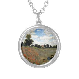 Claude Monet - Les Coquelicots Versilberte Kette