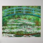 Claude Monet : Passerelle japonaise Affiche