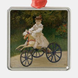 Claude Monet Quadratisches Silberfarbenes Ornament