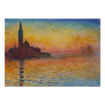 Claude Monet - San Giorgio Maggiore au crépuscule Poster