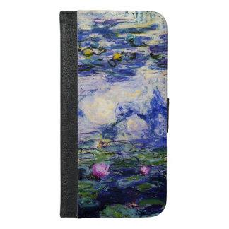 Claude Monet-Wasser-Lilien iPhone 6/6s Plus Geldbeutel Hülle
