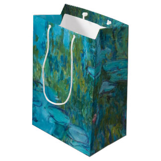 Claude Monet-Wasser-Lilien Nymphéas GalleryHD Mittlere Geschenktüte