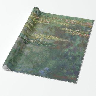 Claude Monet-Wasser-Lilien-Teich-schöne Kunst Geschenkpapier