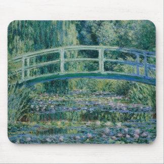 Claude Monet - Wasser-Lilien und japanische Brücke Mauspad