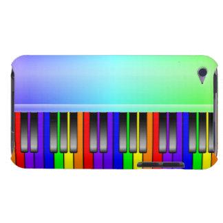 Clavier de piano d'arc-en-ciel coques iPod touch