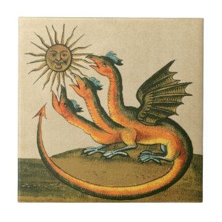 Clavis Artis Alchimie-Drachen Keramikfliese