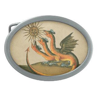 Clavis Artis Alchimie-Drachen Ovale Gürtelschnallen