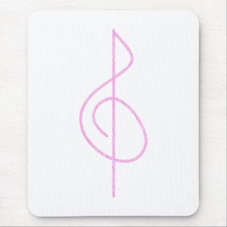 Clef triple de lt Pink Brushstroke Tapis De Souris