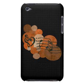 clefs de musique de coeur et caisse orange d'iPod  Coque iPod Touch