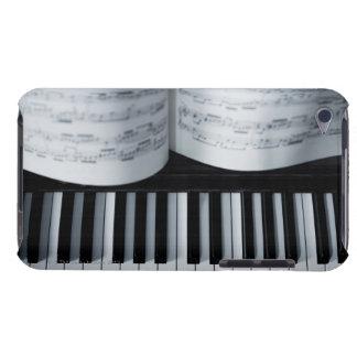 Clés de piano et cahier de musique coque barely there iPod