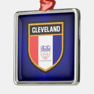 Cleveland-Flagge Silbernes Ornament