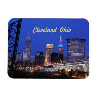 Cleveland-Nacht auf dem Stadtmagneten Magnet