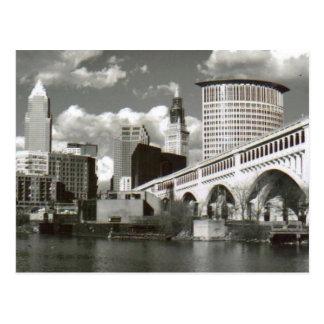 Cleveland Ohio Schwarzweiss Postkarte