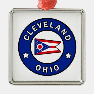 Cleveland Ohio Silbernes Ornament
