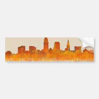 cleveland watercolor City US skyline Autoaufkleber