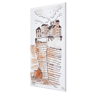 Cliffside Stadt von Bonifacio, Korsika, Frankreich Leinwanddruck