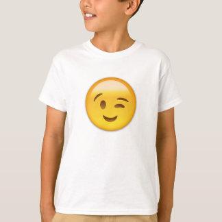 Cligner de l'oeil le visage Emoij T-shirt