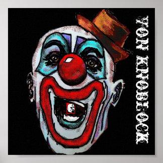 Clinko der Clown durch Von Knoblock Posterdruck