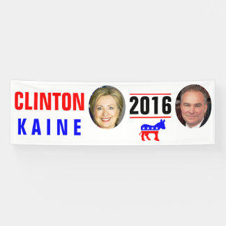 CLINTON KAINE 2016 BANDEROLES