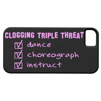 Clogger, das dreifache Drohung verstopft iPhone 5 Hülle