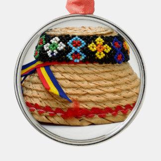 clop traditionellen Hut Silbernes Ornament