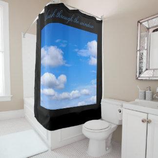 Cloudscape Duschvorhang blauen Himmels