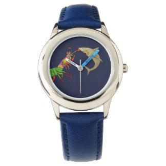 Clown-Garnele-Verpacken-Haifisch-Uhr Uhr