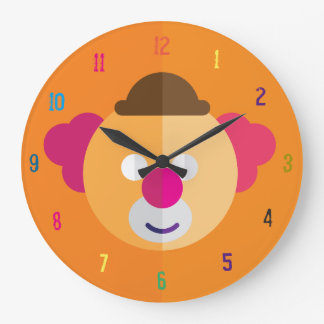 Clown-Gesicht scherzt Raum-Uhr Große Wanduhr