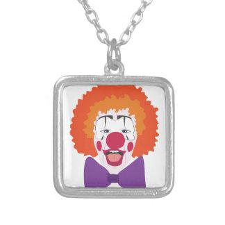 Clown-Kopf Versilberte Kette