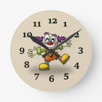 Clown Runde Wanduhr