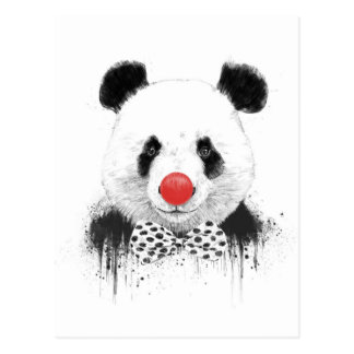Clownpanda Postkarte