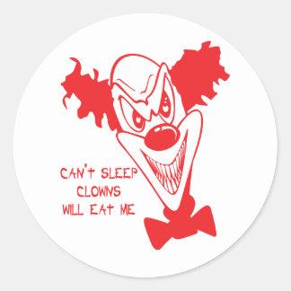 Clowns essen mich Aufkleber/Umschlag Aufkleber