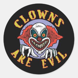 Clowns sind schlechte Aufkleber/Umschlag Aufkleber