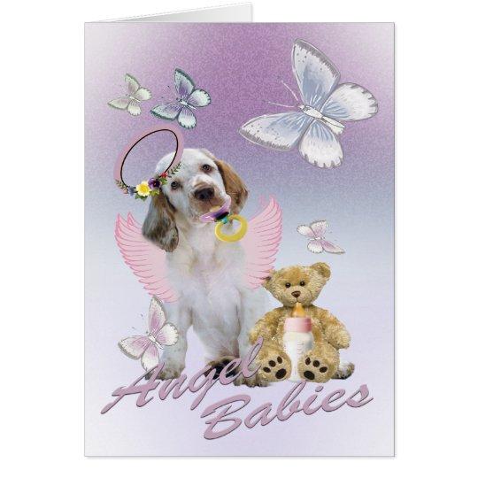 Clumber Spaniel-Engels-Baby-Karten Grußkarte