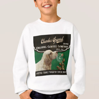 Clumber Spaniel-Marke - Organic Coffee Company Sweatshirt