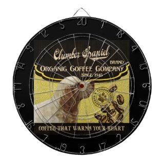 Clumber Spaniel - Organic Coffee Company Dartscheiben