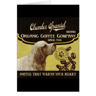 Clumber Spaniel - Organic Coffee Company Grußkarte
