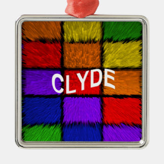 CLYDE QUADRATISCHES SILBERFARBENES ORNAMENT