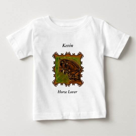 Clydesdale Pferde in ihrem harnesses.sq Baby T-shirt