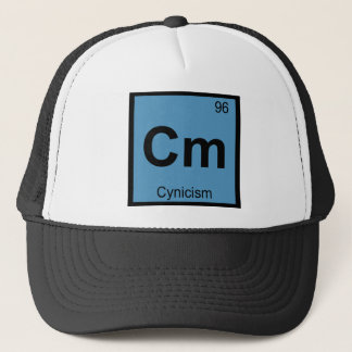 Cm - Zynismus-Philosophie-Chemie-Symbol Truckerkappe