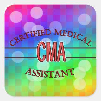 CMA bestätigte Assistenzarzt LOGO Quadratischer Aufkleber