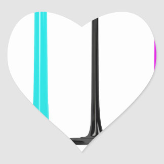 CMYK Farbe gießen auf Weiß Herz-Aufkleber