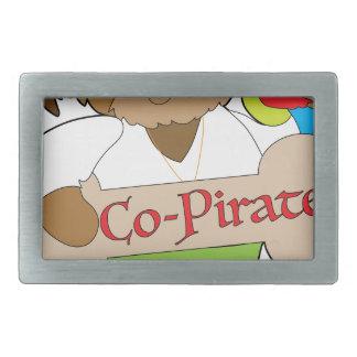 Co-Pirat Hund Rechteckige Gürtelschnallen