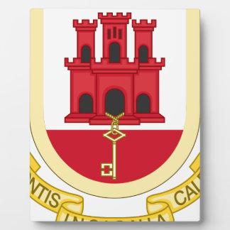 Coat_of_Arms_of_Gibraltar Fotoplatte