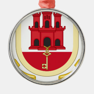 Coat_of_Arms_of_Gibraltar Silbernes Ornament