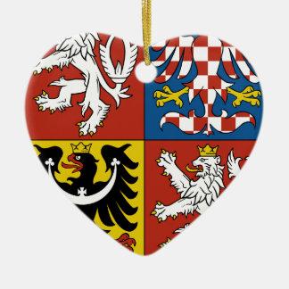 Coat_of_arms_of_the_Czech_Republic Keramik Herz-Ornament